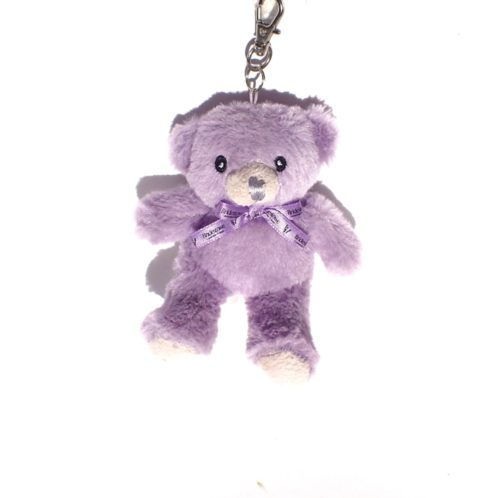 Bobbie the Bear bag buddy plush toy key chain.