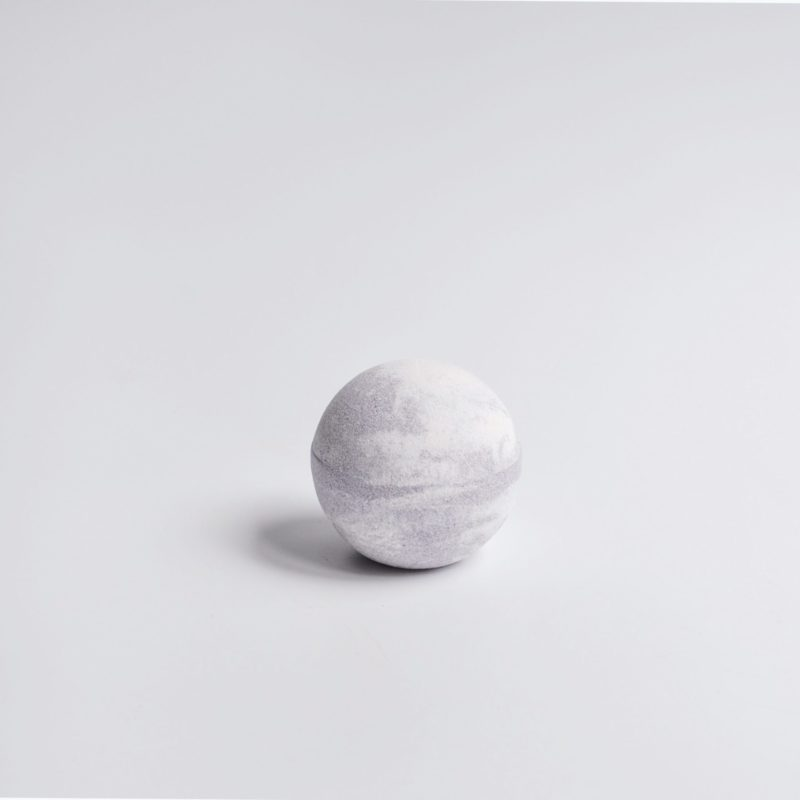 Marble lavender bath bomb by Bridestowe Estate.